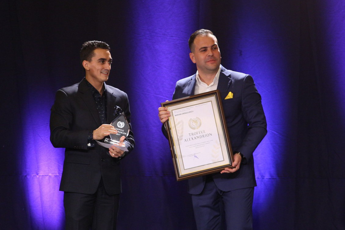 Marian Dragulescu received another Alexndrion Trophy, awarded for excellence in sports and international results.