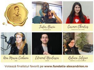 Gala Matei Brâncoveanu 2020: un format inedit, 5 premii pentru tineri remarcabili