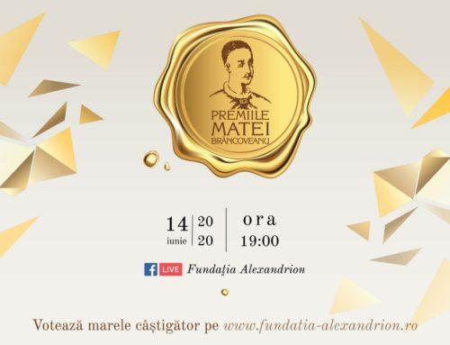 Gala Matei Brâncoveanu 2020 difuzată live pe Facebook, pe 14 iunie  Publicul votează online și decide câștigătorul marelui premiu de 12.000 euro