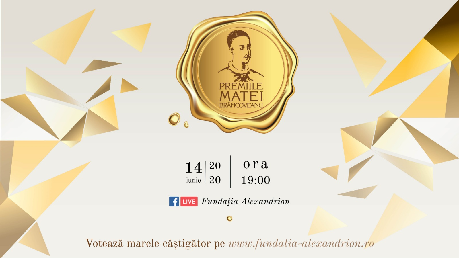 Matei Brâncoveanu Gala 2020 broadcast live on Facebook, on the 14th of June  The audience votes online and decides the winner of the 12,000 euros grand prize