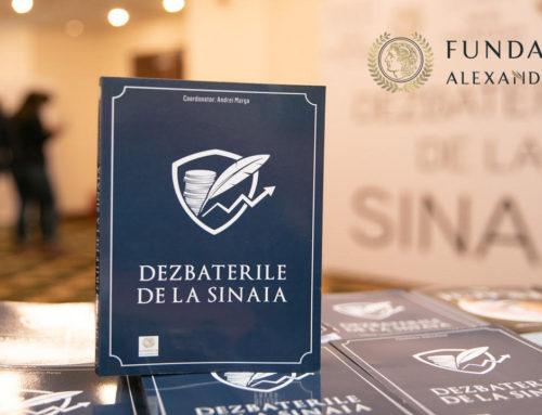 """Fundaţia Alexandrion organizează online a patra ediţie a""""Dezbaterilor de la Sinaia"""",pe 27-28 ianuarie 2021"""